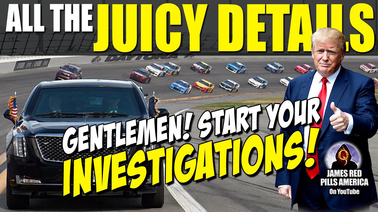 Epic! Gentlemen, Start Your Investigations! FBI Bites It! Trump: USA's Grand Marshall (Daytona 500) Great Video